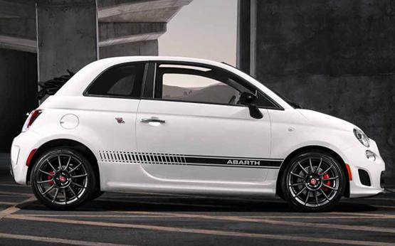 Fiat 500 Abarth Cabrio power service luxury car hire ferrari lamborghini porsche maserati mclaren mercedes bentley in italy tuscany europe florence rome milan monaco geneva nizza montecarlo