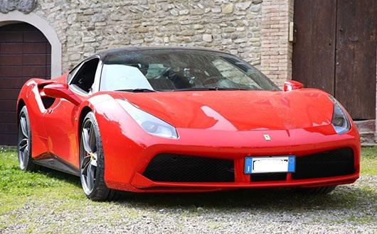 Ferrari 488 Spider power service luxury car hire ferrari lamborghini porsche maserati mclaren mercedes bentley in italy tuscany europe florence rome milan monaco geneva nizza montecarlo