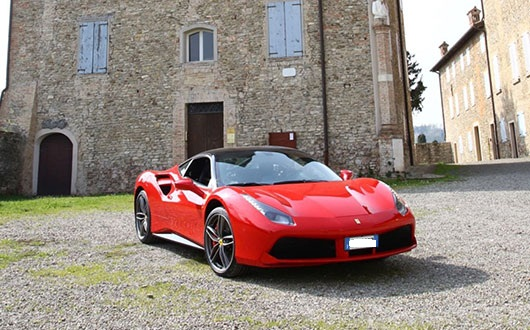 Ferrari 488 Spider power service luxury car hire