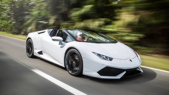 Lamborghini Huracan Spider power service luxury car hire