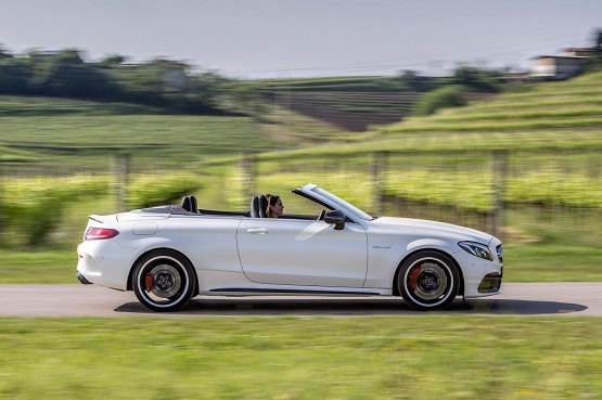 Mercedes C63 AMG S Cabrio power service luxury car hire ferrari lamborghini porsche maserati mclaren mercedes bentley in italy tuscany europe florence rome milan monaco geneva nizza montecarlo