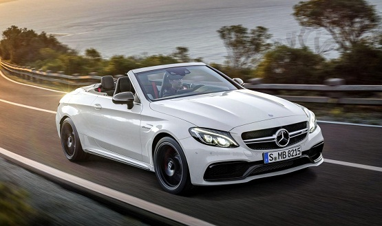 Mercedes C63 AMG S Cabrio power service luxury car hire