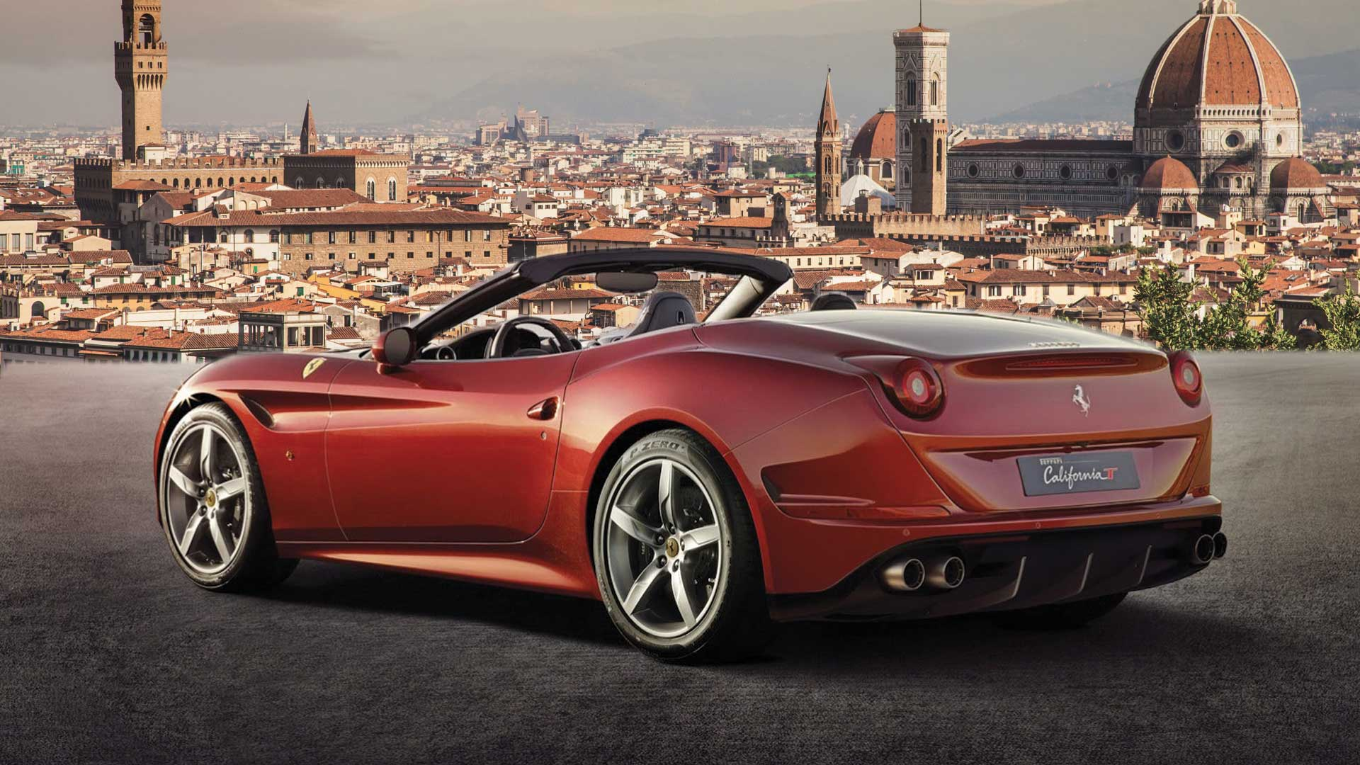 Ferrari California Turbo Full Day Rental in Florence power service luxury car hire