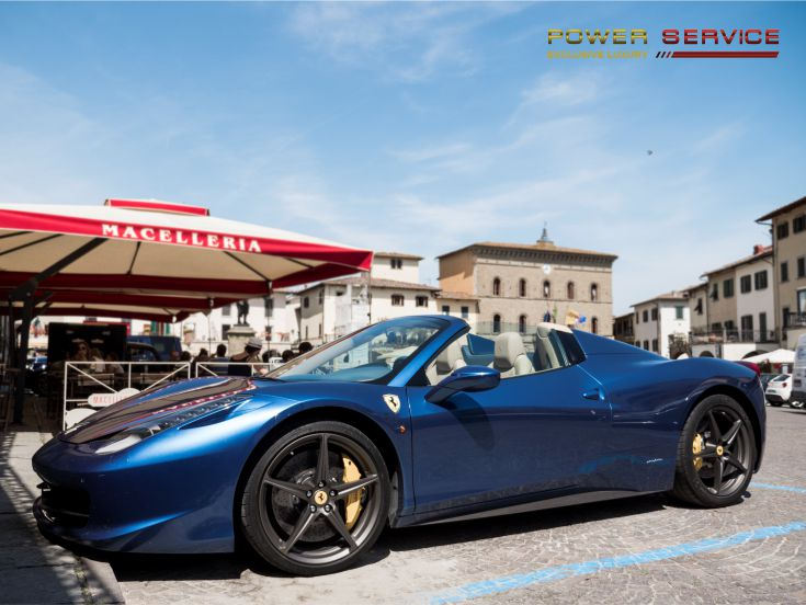 Rent Ferrari 458 Italia Spider in Rome - Power Service Luxury Car Hire in Italy and Europe