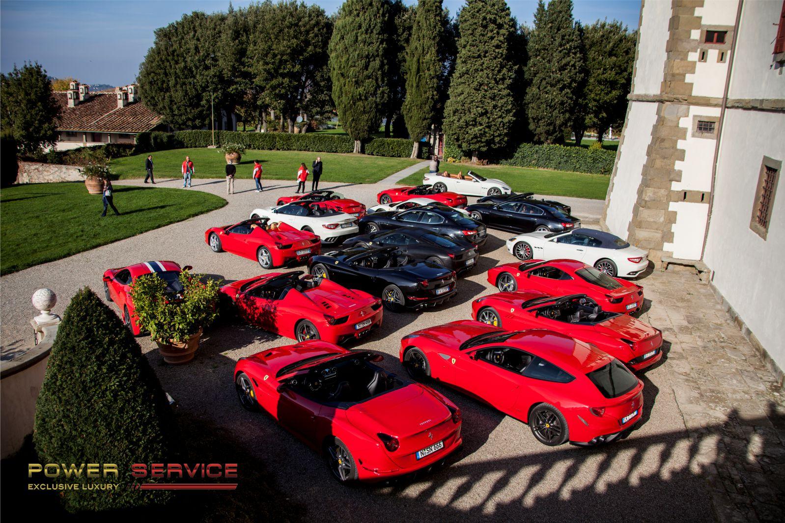 Rent a Ferrari California Turbo to explore Chianti hills - Power Service Luxury car hire