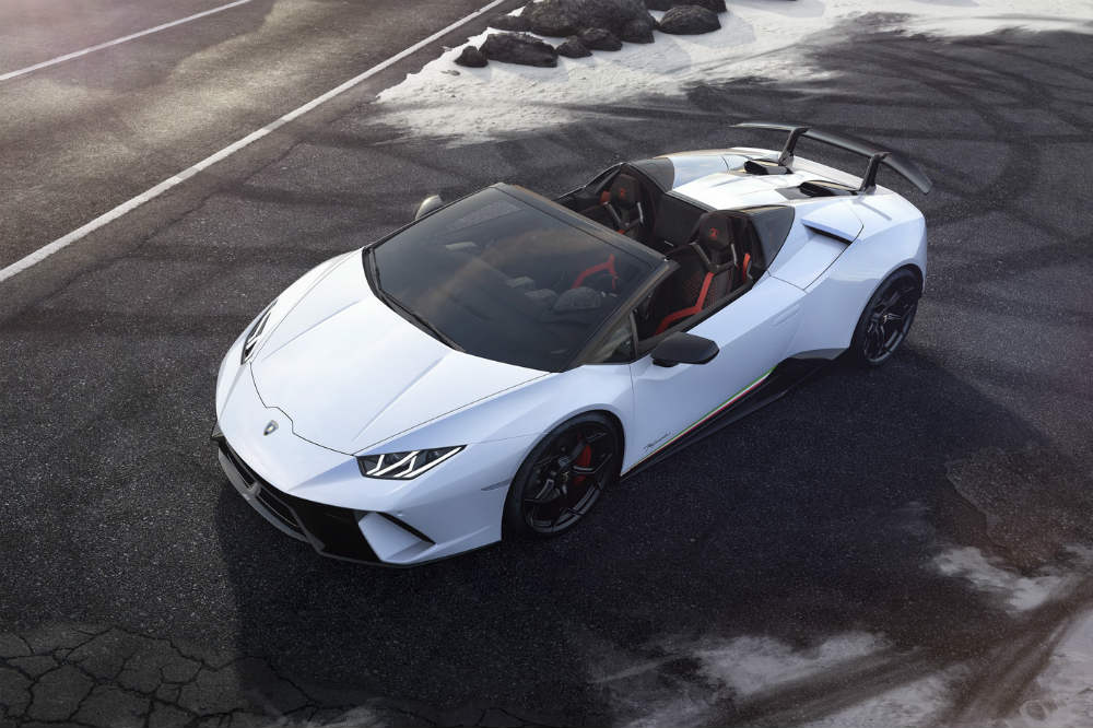 Lamborghini Huracan Performante Spyder - Power Service Luxury Car Hire